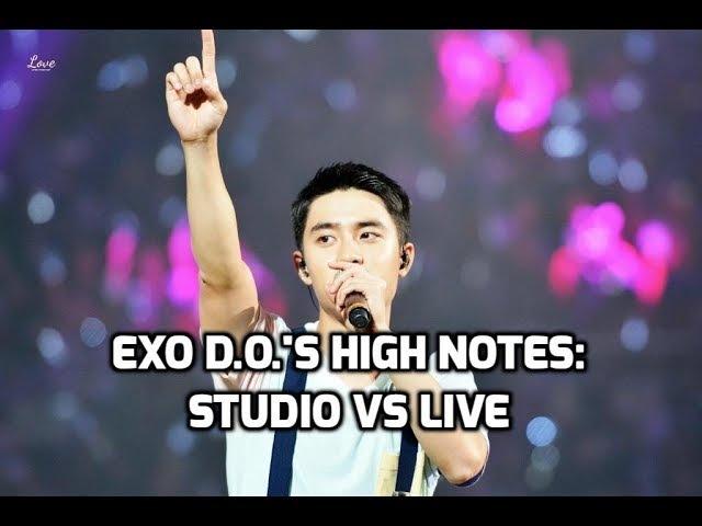 EXO D.O. Kyungsoo - High Notes: Studio vs Live   엑소 - 디오 고음비교: 스튜디오 vs 라이브