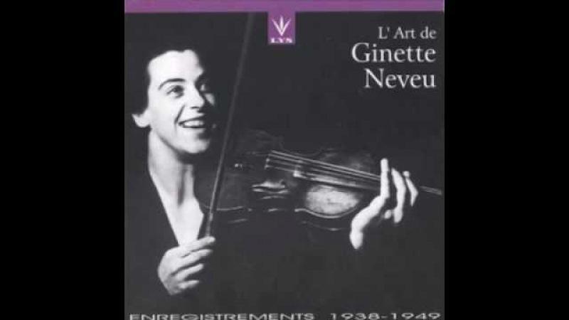 Ginette Neveu - Interview I