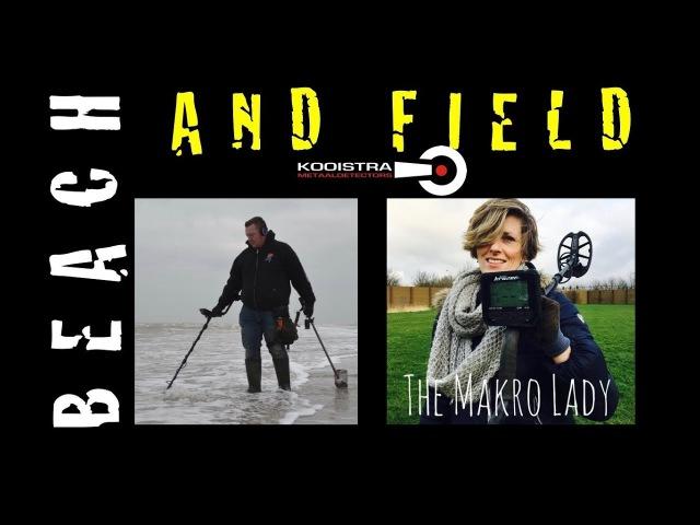 Makro Multi Kruzer on Beach and field with.. The Makro Lady! - The Dutch Metal Hunters
