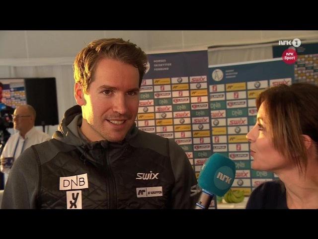 Emil Hegle Svendsen Bø brothers at the Norwegian Biathlon Team press-conference - Sjusjøen 2017