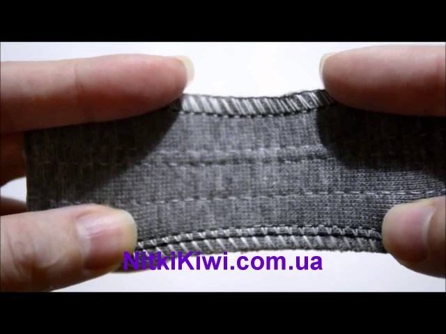 Как использовать Текстурированные нитки: оверлочный шов на трикотаже
