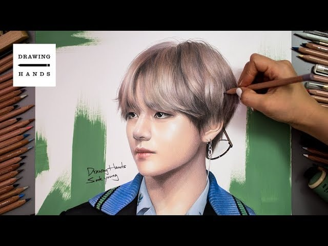 Speed Drawing BTS - V, Kim Tae-hyung [Drawing Hands]