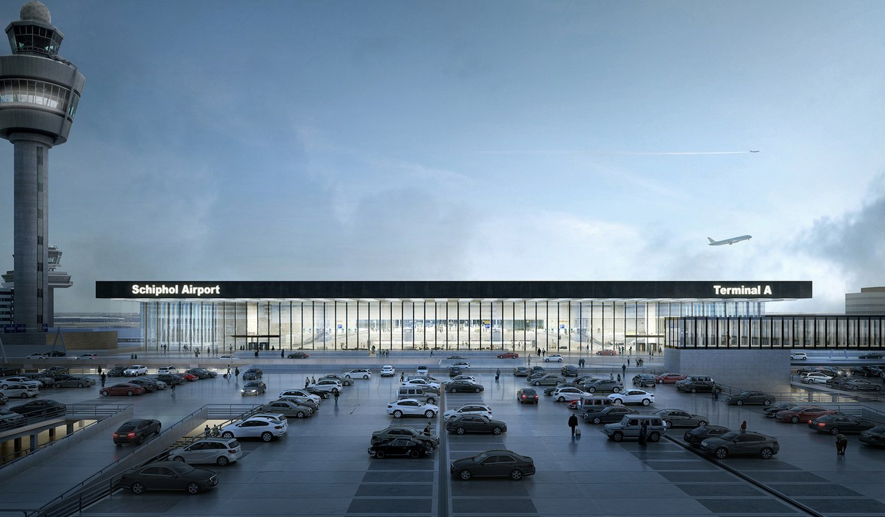 KAAN Architecten Designs Glassy New Terminal for Amsterdam Airport Schiphol