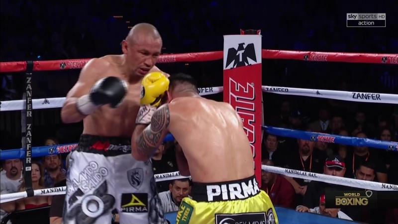 Orlando Salido vs Miguel Roman knockdown