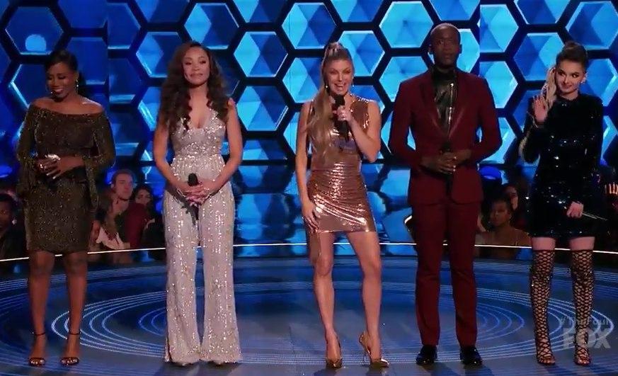 The Four Fox finalists: Candice Boyd. Evvie McKinney, Zhavia, Vincint Cannady