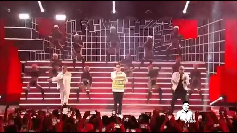 Chyno Miranda Ft Gente De Zona y Wisin Quedate Conmigo Premios Juventud 2017