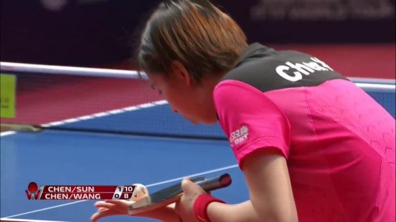 2018 Hong Kong Open Highlights | Sun Yingsha/Chen Xingtong vs Chen Ke/Wang Manyu (Final)