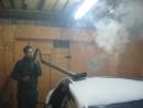 Проверка на герметичность глушителя Босодзоку