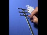 гиперреализм. рисуем небо облака и провода