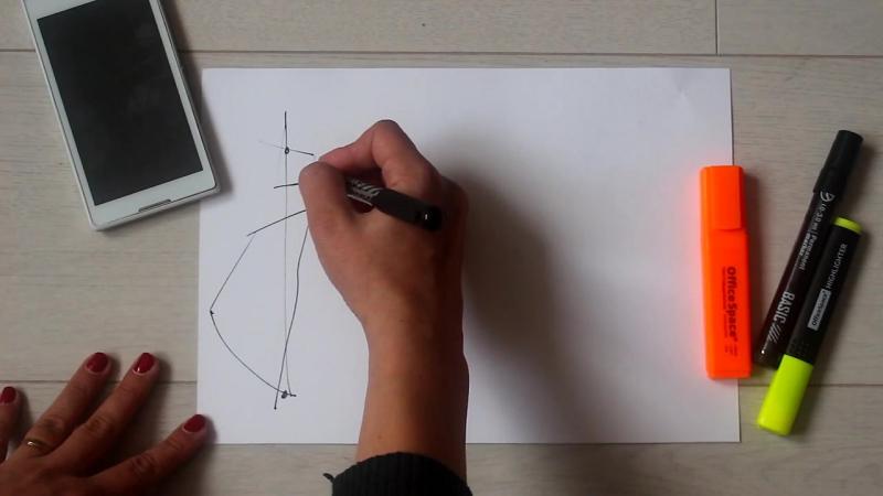Как рисовать модные эскизы.Урок 2.1