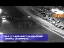 В Уфе Volkswagen Polo после ДТП отбросило в электроопору