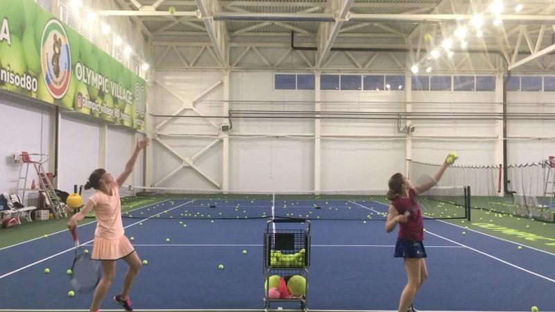 Резанная подача.Большой теннис.Спорт группа 3й год обучения. Академия тенниса ск Олимпийской деревни 80
