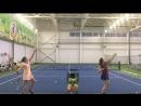 Резанная подача Большой теннис Спорт группа 3й год обучения Академия тенниса ск Олимпийской деревни 80