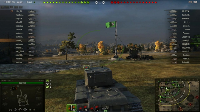 World of tanks ха!Он думал что я не загрузился! И вышел на меня. т-71vs кв-2