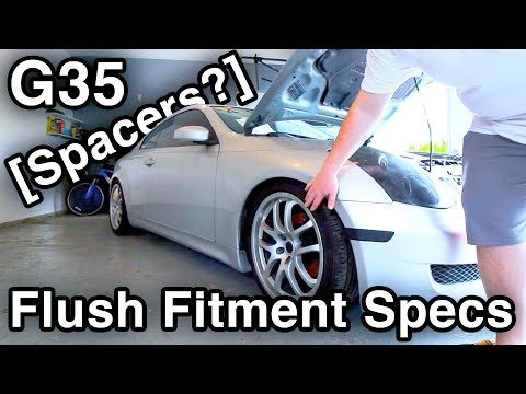 Flush Spacer Fitment Specs for Staggered 19 Rays Wheels [@delaware_vqs' Infiniti G35 Coupe]