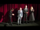 Robert Pattinson and the 'Damsel' team on stage at the Berlinale premiere