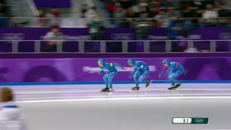 18.02.2018. Конькобежный спорт. Командная гонка преследования. Мужчины. Квалификация