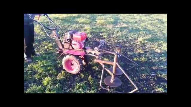 Самодельная роторная косилка на мотоблок - Homemade rotary mower for a motoblock