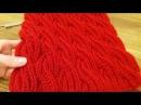 Вязание шарф- снуд хомут спицами в технике - бриошь, узор- косы.