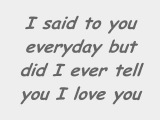 Nick Lachey - Did I ever tell you (lyrics)