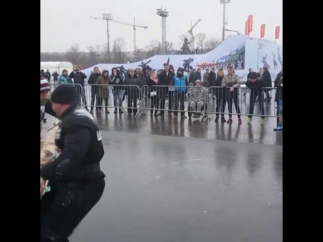Кобанов и Головачёв Пул пуш Зимний Кубок по силовому экстриму Moscow strongman