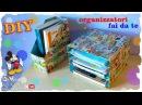 Tutorial: Mini Scaffale ed Organizzatore per Libri | Riciclo Creativo | DIY Organizer Notebooks