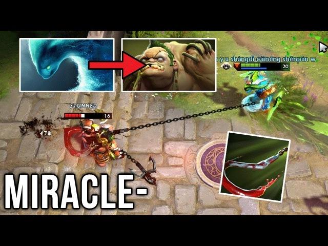 Miracle- EPIC Morphling GOD w/ Aghanim Scepter vs Poor Pudge - Dota 2