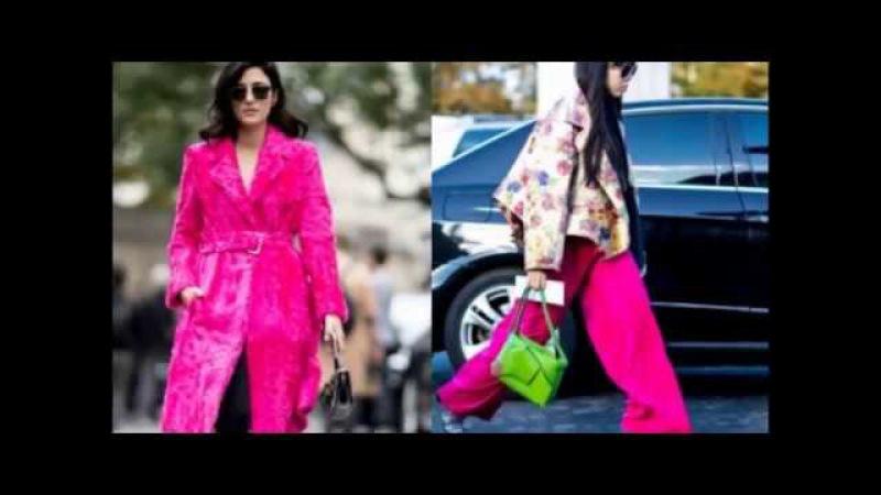 Уличная мода 2017: платья, брюки, юбки и пальто.