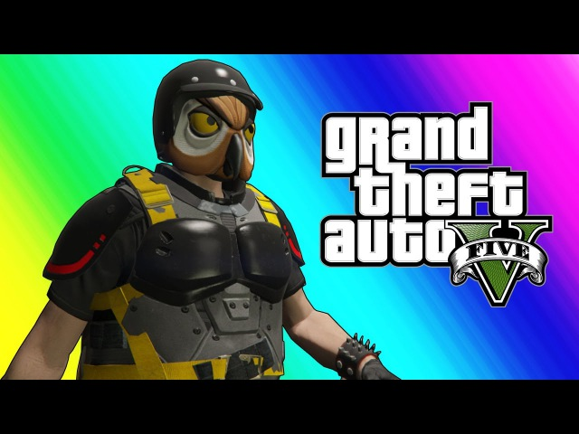 GTA5 Online Funny Moments Doomsday Heists - Saving the World Flying Delorean Car!
