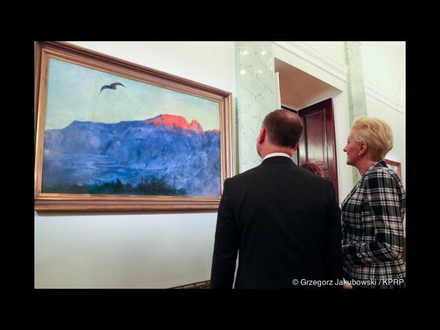 """Udział Pary Prezydenckiej w wernisażu wystawy malarstwa """"Polska w pejzażach"""""""