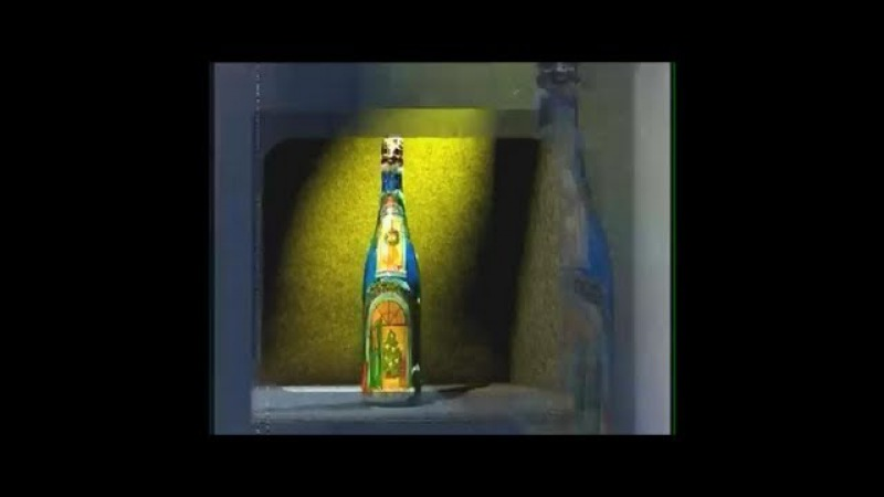 Декупаж бутылки вина к празднику. Мастер класс. Наташа Фохтина