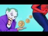 Джокер собирает какашки и превращает их в золото! Спайдермен и Свинка Пеппа Человек Паук Мультики