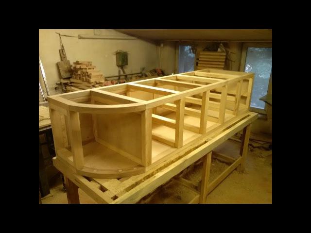 Кухня из дерева, делаем нижнюю часть шкафа для кухни