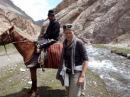 Traversée torrent Sary Moghul, Kyrgyzstan