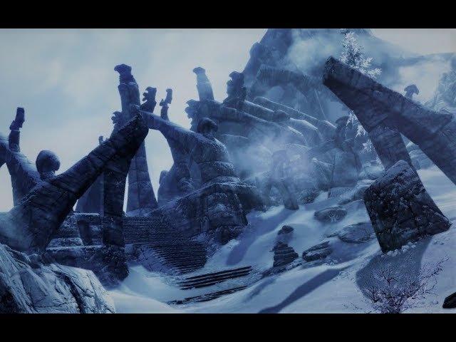 TES IV: Skyrim. Золотой коготь и прохождение квеста. Ветренный пик. HD Video.