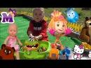 БЕБИ БОРН Фиксики и Мария купает и играет с игрушками Детские песенки nursery rhymes for ...