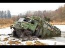 Сибирские дороги. ГАЗ-66 Шишиги всех нагнет.