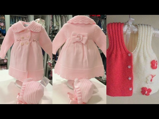 BEST woolen frock design for baby girl cutest sweaters design ideas