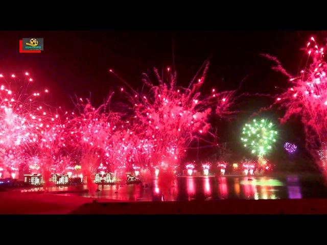 Fireworks for New Years Eve 2018 at Al Marjan Island, Ras Al Khaimah