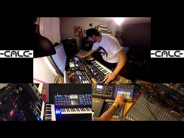 -CALC- takes Novation Circuit to meet some new friends and they JAM LIVE