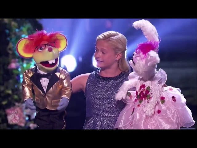 Winner! Darci Lynne 12 Yrs Old Girl Ventriloquist Makes These 2 Puppet Sing! Wonderful Performance!