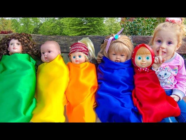 Куклы Пупсики Беби Бон Плачут, Настя как Мама Learn colors with dolls Are you sleeping song for kids