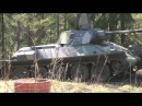 Panssarimuseo Finnish Armour Museum T 34 Soviet Tank In Action MG Fire And Car Wrecking