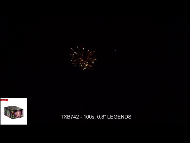 Fajerwerki TXB742 LEGENDS 100s. 0,8 Triplex