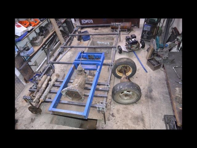 Самодельный мини трактор 4х4 (Мультик) 2 часть