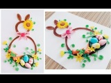 Paper Quilling Wreath for Easter 3 Paper Quilling Easter Home Decoration