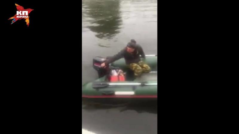 Дрифт на надувной лодке закончился аварией для новосибирского рыбака