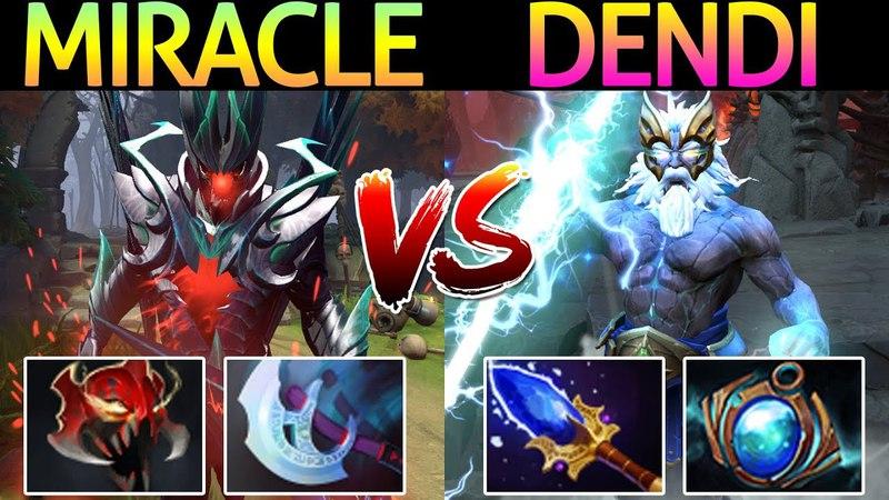 Miracle- Terrorblade VS Dendi Zeus | New Boss VS Old Boss 7.13 Dota 2
