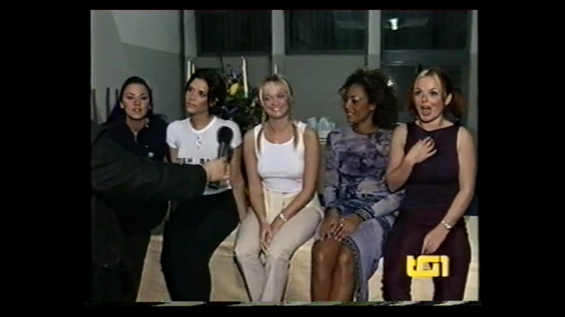 Spice Girls - Tour Report Interview - Rome - TG1 06.03.1998