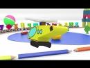 Паровоз - алфавит для детей. Песенка - мультик. Учим буквы. Развивающий мультфильм 3D, HD
